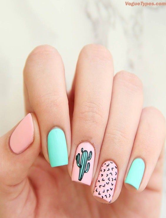 Simple Easy Gel Polish Nail Art Design Ideas For 2018 Cute