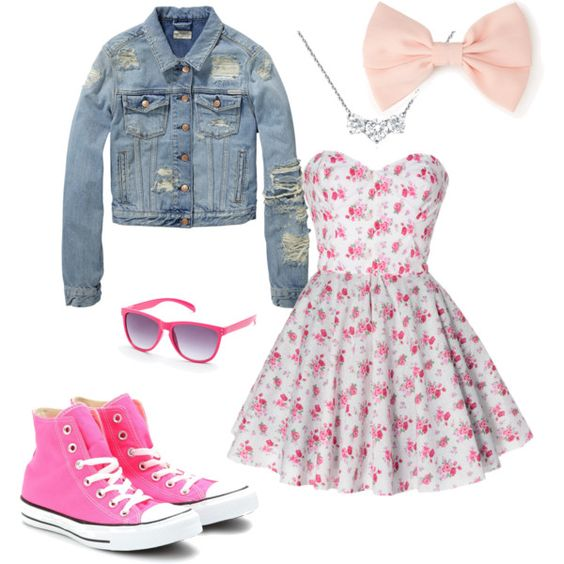 Pink Winter 2013 Outfits for Women,Cute and casual for the fall except I'd wear hot pink converse #cheap #Sneakers