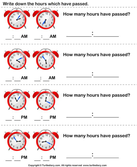End time, Elapsed time and Worksheets on Pinterest