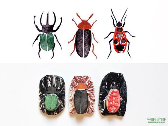 Insekten stempels, kaftpapier