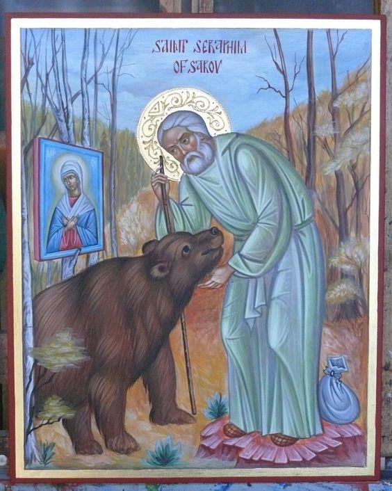 St. Seraphim of Sarov Orthodox icon by Georgi Chimev