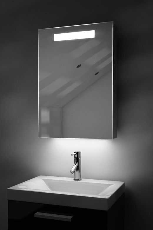 Alannah Demister Bathroom Cabinet With Colour Change Under Lighting