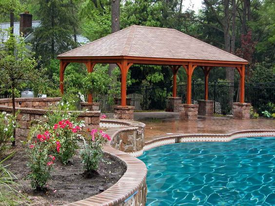 out pool plans best way to get the perfect backyard pavilion designs