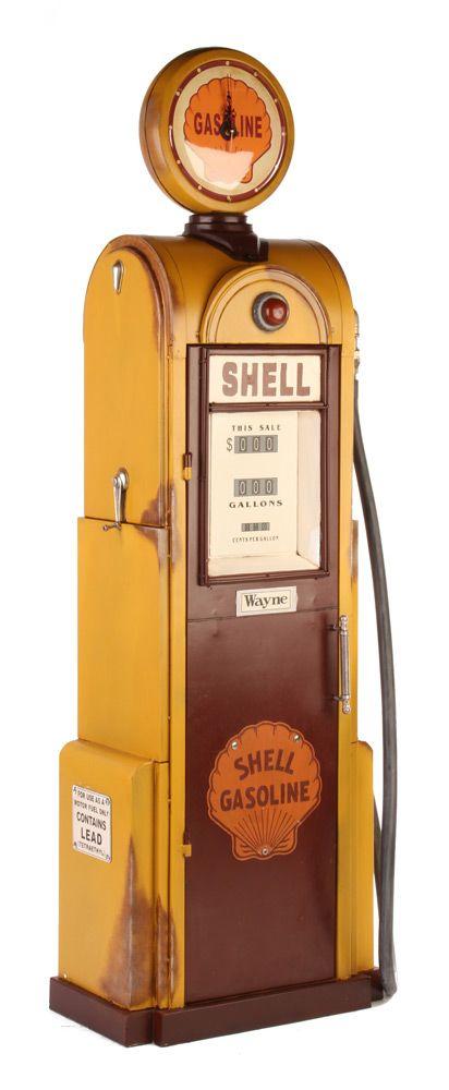 vintage petrol pump cupboard: