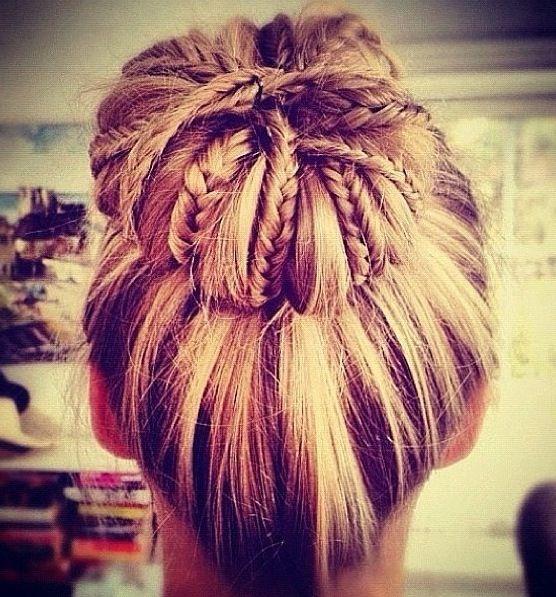 #braids #messybun #genius