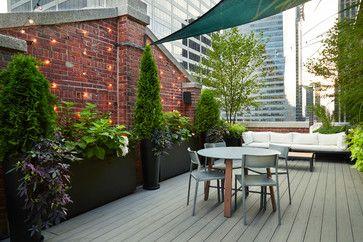 Midtown Manhattan Rooftop Garden traditional-deck