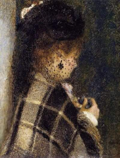 """""""Young Woman with a Veil"""", Pierre-Auguste Renoir."""