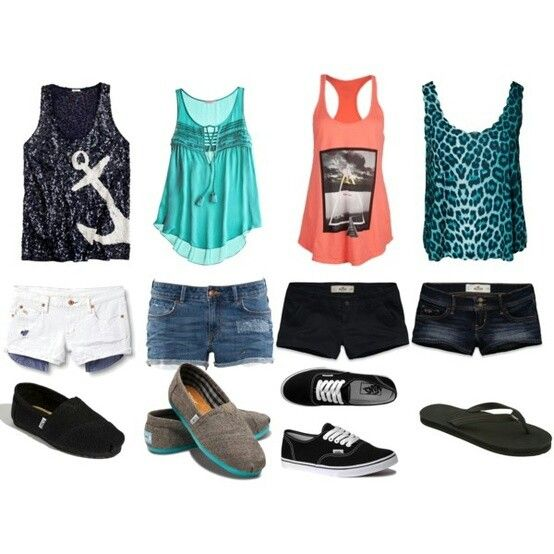 Cute school or summer outfits (except for the ugly cheetah top)