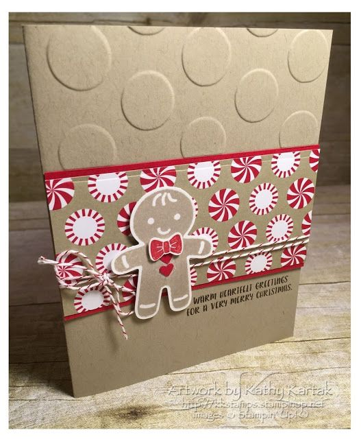 "Faithful INKspirations: Adorable Gingerbread Man is made with Stampin' Up's ""Cookie Cutter Christmas"" stamp set and matching punch."