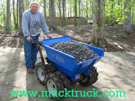 Muck-Truck, Mucktruck, Muck truck, Power Barrow, powered barrow, powerbarrow, Motorised Barrow, Pedestrian Dumper, Micro Dumper, Motorized wheelbarrow