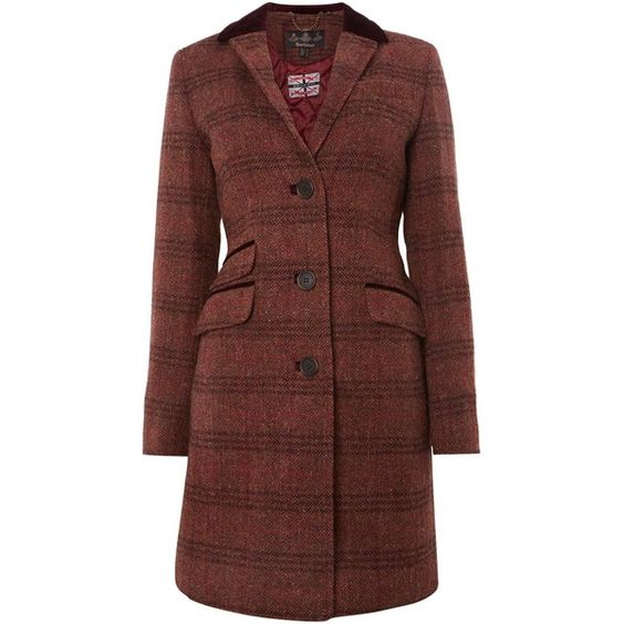 Barbour Wool Tweed Stornoway Coat ($255) ❤ liked on Polyvore