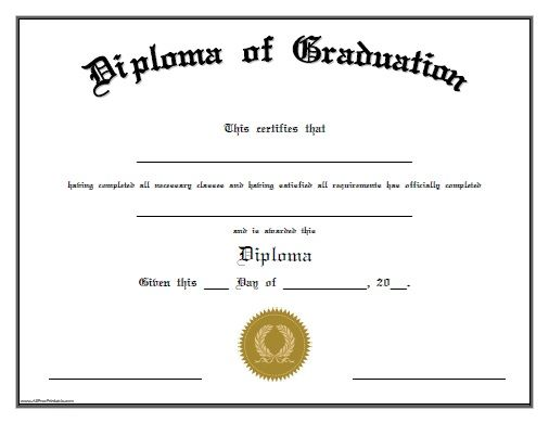 Free Printable Diploma Of Graduation Free Printable Diploma Of Graduation That Can Be Graduation Certificate Template Homeschool Diploma School Certificates