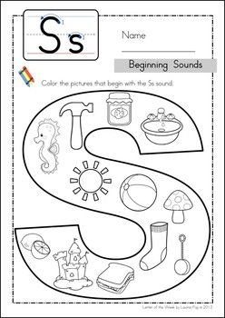 Worksheets S Sound Worksheets letter of the week phonics and letters on pinterest s