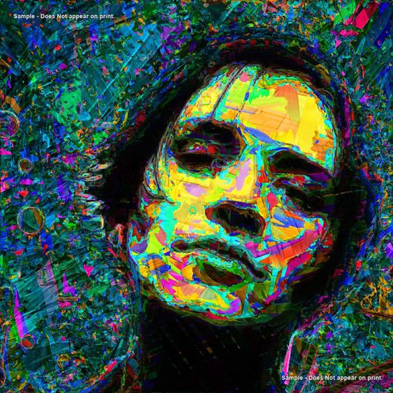 BRIAN MOLKO  of PLACEBO  Large 20 x 20 Art Giclee by EisnerArt, $25.00