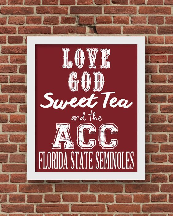 Love god sweet tea and the acc florida state seminoles football love god sweet tea and the acc florida state seminoles football print art 8x10 voltagebd Image collections