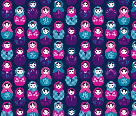 Babushka fabric by danielle_b on Spoonflower - custom fabric