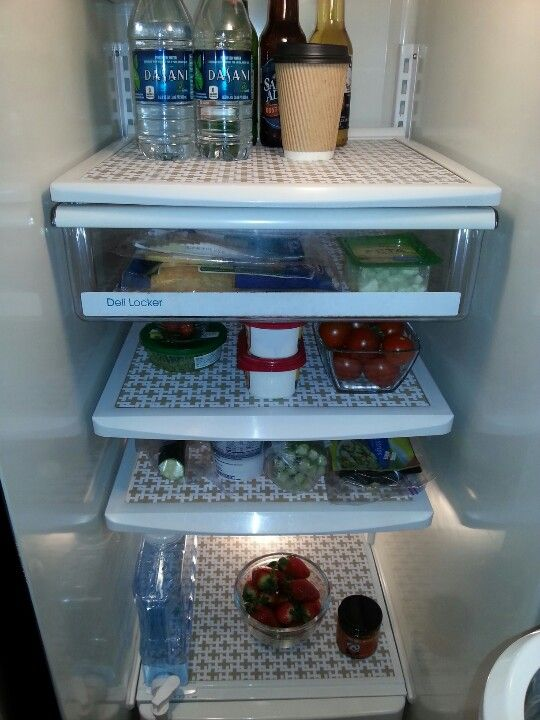 Placemats as refrigerator shelf liners | HOME / KITCHEN ...