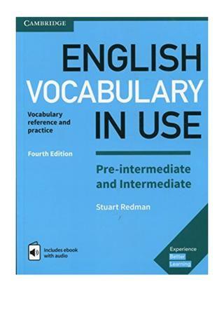 English Vocabulary In Use Pre Intermediate And Intermediate Book In 2021 English Vocabulary Advanced Vocabulary Vocabulary