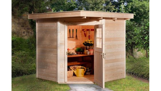 Weka Holz Gartenhaus Angolo A Natur Bxt 209 Cm X 205 Cm Kaufen Bei Obi Idee Giardino Piccolo Idee Giardino Idee