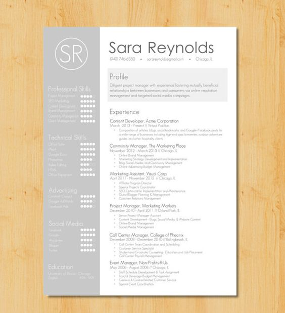 Stylish Resume Template + Cover Letter Creative Resume Design - microsoft word resume template free