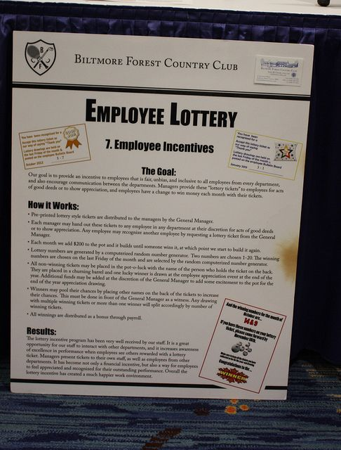 """Our goal was to provide an incentive for employees that are fair,  unbiased, and inclusive to all employees from every department, as  well as encourage communication between departments. Managers  recognize excellence by giving employees """"lottery tickets"""" for good  deeds, and the lottery numbers are drawn once a month as an incentive."""