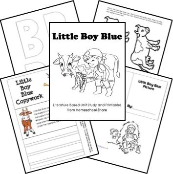 Little Boy Blue Preschool Unit Study and Lapbook; engage your preschooler with these printables.