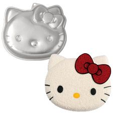 Will most likely be her cake - they have this pan to rent at Bulkbarn....my girl LOVES Hello Kitty!!