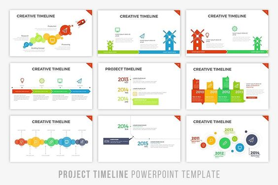 Project Timeline Powerpoint Template by BrandEarth on - project timeline
