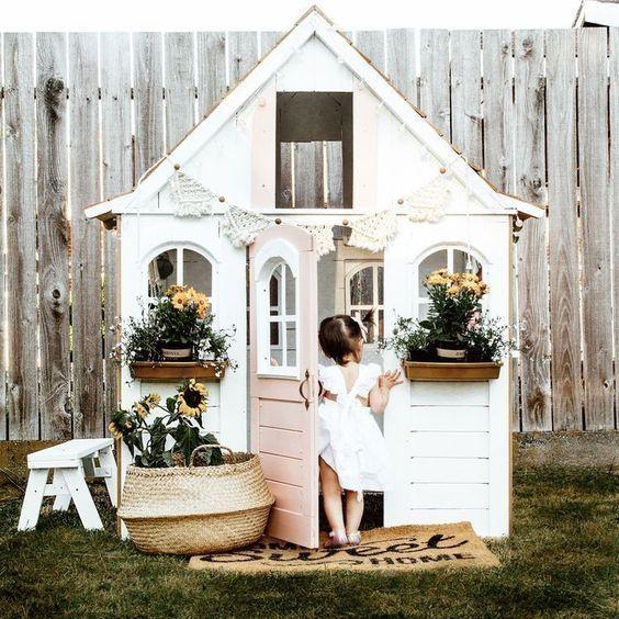 Diy Playhouse Backyard, Girls Outdoor Playhouse