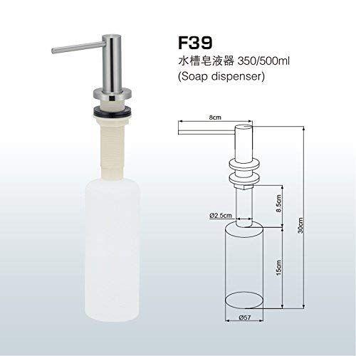 Togu F39 Grade 304 Stainless Steel Sink Soap Dispenser Large Capacity 17oz Pe Bottle Soap Dispenser Sink Soap Dispenser Stainless Steel Sinks Soap Dispenser