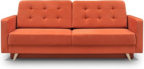Best Seller Meble Furniture Rugs Vegas Futon Sofa Bed Queen Sleeper Storage Orange Online In 2020 Futon Sofa Bed Futon Sofa Sofa Bed