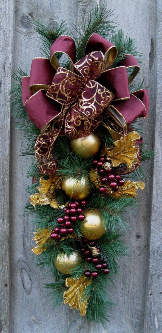Vintage French Soul ~.Elegant Victorian Christmas Swag. I can see this in white and silver.