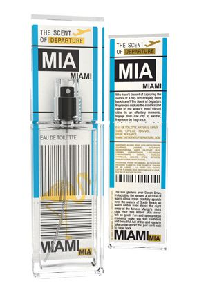 Scent of Departure - Miami (MIA)  Packaging that looks like a boarding pass - good one.