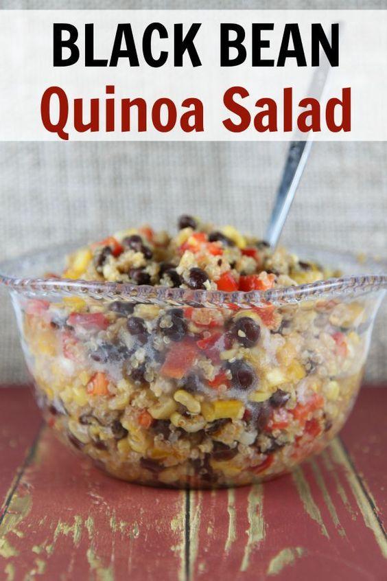 Black bean quinoa, Quinoa salad recipes and Quinoa salad on Pinterest