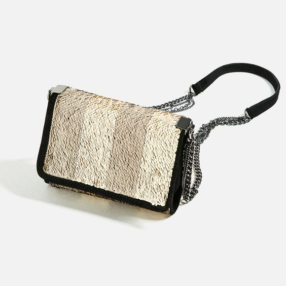 CONTRAST SEQUIN CROSSBODY BAG-NEW IN-WOMAN | ZARA United States