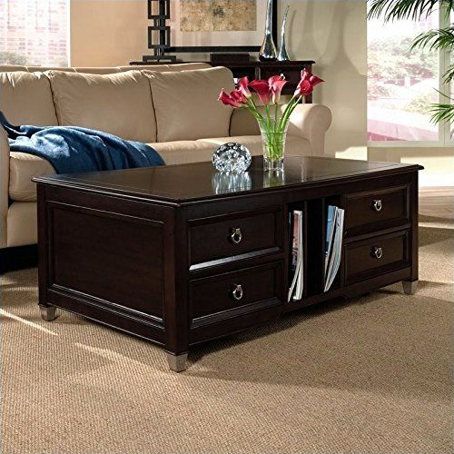 Magnussen Darien Wood Lift Top Cocktail Table Traditional Coffee Table Coffee Table With Casters Coffee Table With Storage