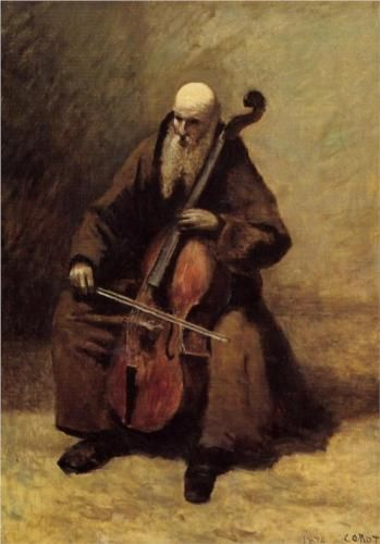 The Monk - Camille Corot, 1874