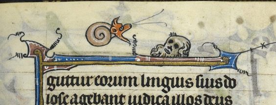 Credit: The British Library A detail from a fragmentary Book of Hours, France (St Omer), c. 1330