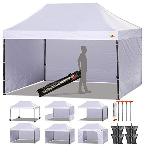 Abccanopy Canopy Tent Popup Canopy 10x15 Pop Up Canopies Commercial Tents Market Stall With 6 Removable Sidewalls In 2020 Pop Up Canopy Tent Canopy Tent Canopy Outdoor