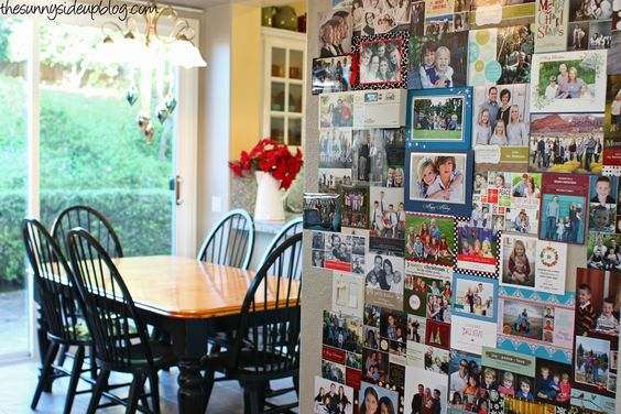 Lots of good ideas on displaying Christmas cards (Sunnyside Up)