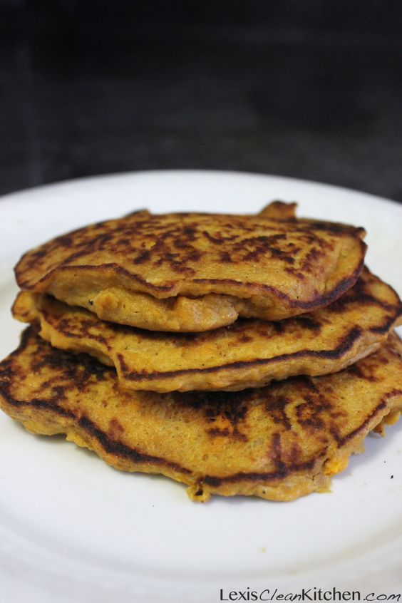 Sweet Potato Protein Pancakes: