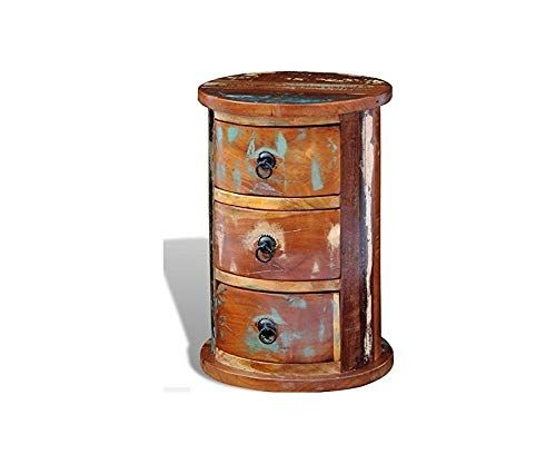 Indian Bedside Table Rustic End Living, Small Round Antique Side Table