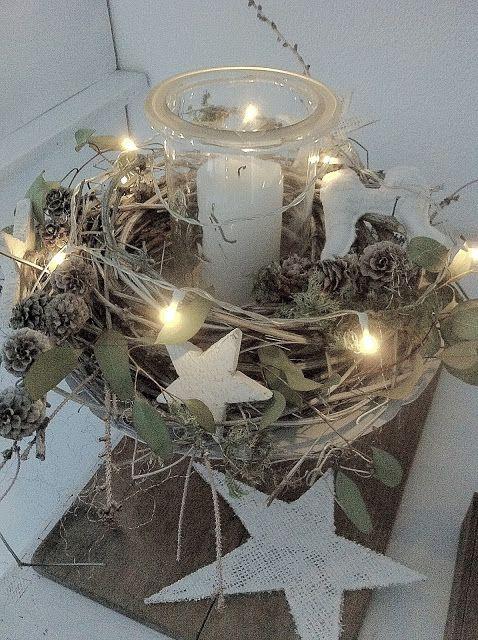 *♥* natural christmas Evtl mit Kaltporzellan Elementen