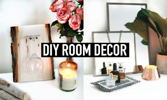 DIY Room Decor | Vintage & Rustic Inspired  ✂️  - Vintage Tray, Wine Glass Display, Rustic Frame