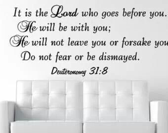 Lord goes before you