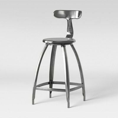 Strange Seidler Architect Industrial Counter Stool Silver Project Alphanode Cool Chair Designs And Ideas Alphanodeonline