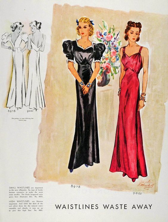 1936 McCalls Fashion Illustration #1