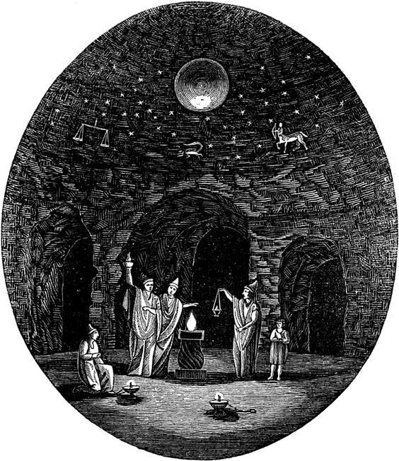 Dansk Jävlarna The Eleusinian mysteries, from The Family Magazine, 1834.