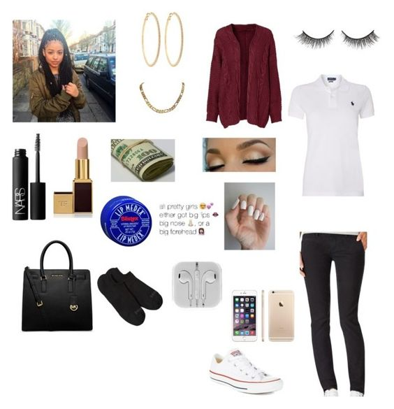 """HS #28"" by rebeccakellye ❤ liked on Polyvore featuring Aéropostale, Polo Ralph Lauren, Converse, NARS Cosmetics, Roberta Chiarella, Rimini, Tom Ford, Patagonia, Michael Kors and women's clothing"