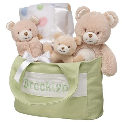 Perfect Baby Shower Gift Or Welcome Home Baby Gift Brown Bear Gift Set 5 Pc